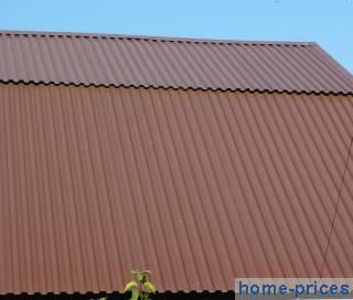 крыша из профилированного настила