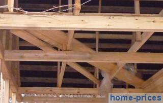 перекрытие по деревянным брусьям