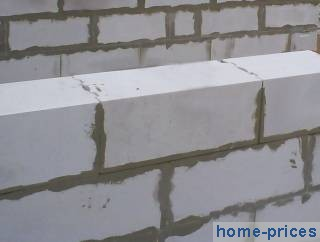 Кладка из газосиликата с оштукатуриваемым фасадом