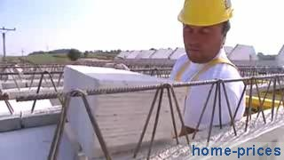 перекрытие из сборных блоков и железобетонных балок
