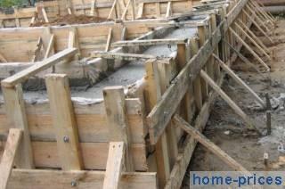 фундаментная лента из ж/бетона