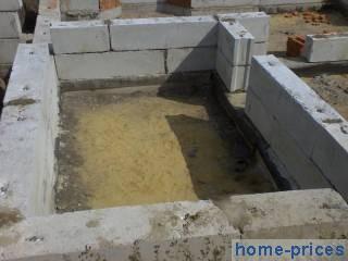 фундаментное основание из бетонных