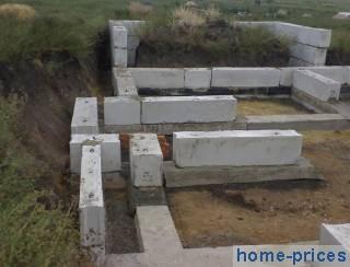 бетоно-блоковый  фундамент