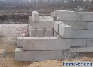 ленточный фундамент из бетоноблоков