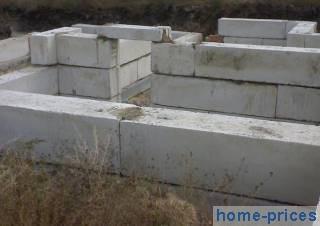 ленточный фундамент из железобетонных блоков