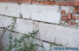 фундаментное основание из бетоно