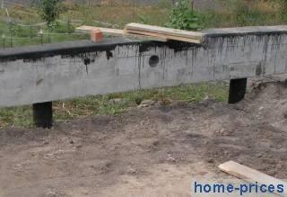 столбчато-монолитный фундамент