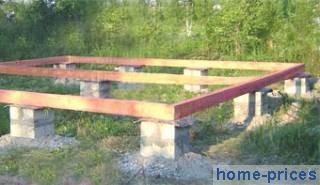 столбчатый фундамент из сборных бетонных блоков