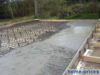 плитно-монолитный бетонный фундамент