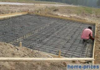 фундамент из железобетонной плиты