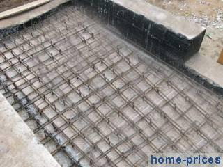 Монолитный участок между  пустотными плитами  ImhoDomRu